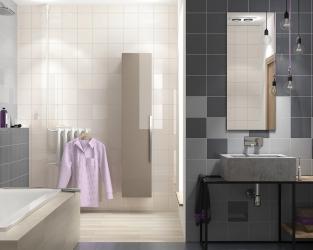 Jasna łazienka w kwadratowych płytkach 20x20 cm