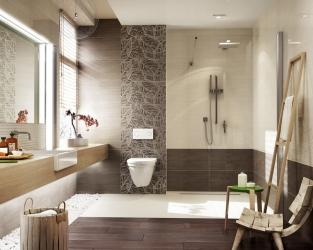 Duża łazienka w stylu eco