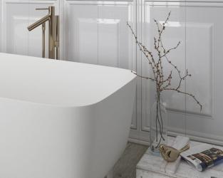 Biała klasyka łazienkowa w eleganckim wydaniu