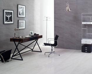Elegancki, minimalistyczny gabinet w szarościach