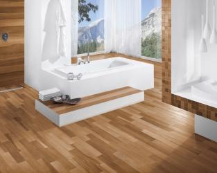 Esencja natury w dużej łazience w stylu skandynawskim