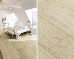 Biel i drewno w eco-sypialni na poddaszu