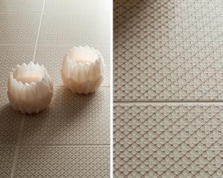 Hipnotyzujący urok drobnych geometrycznych wzorów w łazience