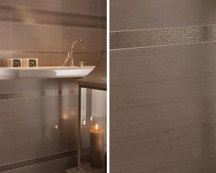Strukturalne wzorki geometryczne w łazience
