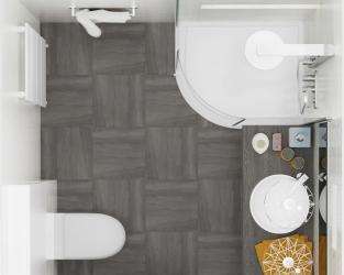 Kompaktowa gustowność niewielkiej łazienki