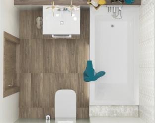 Niewielka łazienka w nowoczesnym stylu