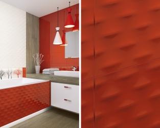 Kontrastowa nowoczesność w łazience