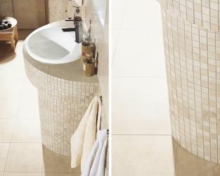 Okrągłe jest piękne, czyli mozaikowe zaokrąglenia w łazience
