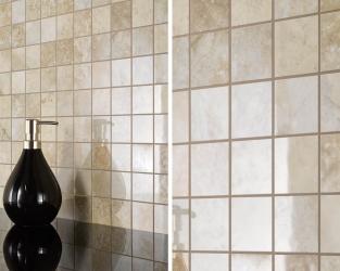Dekoracyjna mozaika o wyglądzie kamiennych, marmurowych kostek