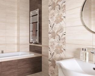 Jedna łazienka, dwa ciepłe odcienie