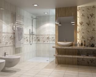Klasyczna delikatność wystroju łazienki