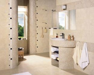 Szlachetna klasyka łazienkowa z mozaiką