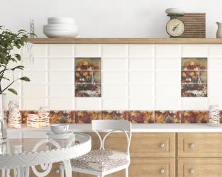 Zapach jesiennych bukietów w jasnej kuchni z białymi kaflami