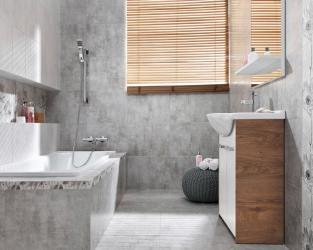 Ceramiczny cement w łazience