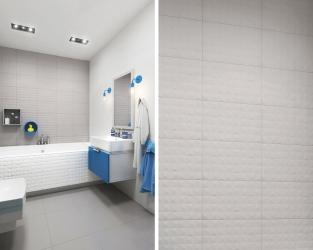 Barwny kontrast w minimalistycznej łazience