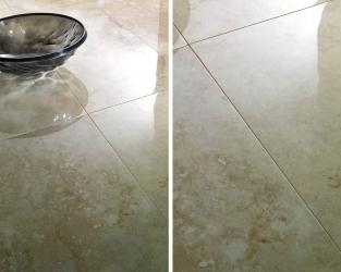 Olśniewający blask polerowanego ceramicznego marmuru