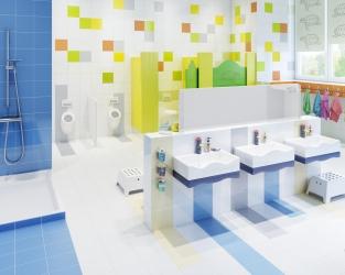 Przedszkolna łazienka pełna kolorów i radości