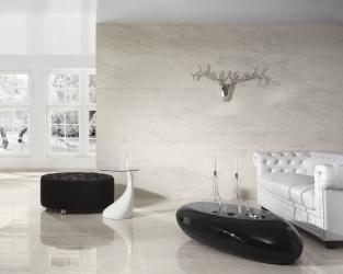 Biało-czarny, ekskluzywny salon w stylu nowoczesnej klasyki
