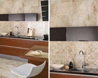 Mozaikowe zdobienia w eleganckiej, klasycznej kuchni