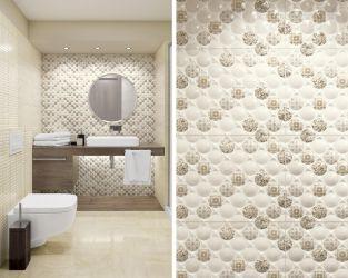 Dekor na łazienkowej ścianie