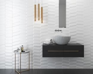 Klasyka nowoczesności w białej łazience