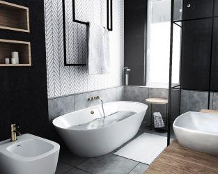 Balans kolorystyczny w łazience