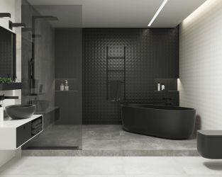 Aranżacja czarnej łazienki