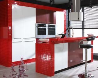 aranzacja-czerwonej-kuchni-altea-albir-ceramika-paradyz