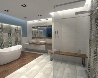 Prysznic otwarty na łazienkę - walk in shower