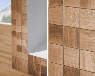 Mozaikowy detal z łazienki w stylu skandynawskim