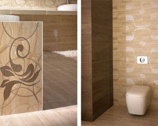 Strefy funkcjonalne dużej, beżowo-brązowej łazienki