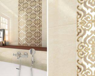 Klasyczne wzory w tradycyjnej, beżowej łazience