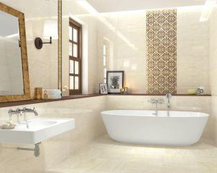 Przestronna łazienka w stylu tradycyjnym z wolno stojącą wanną