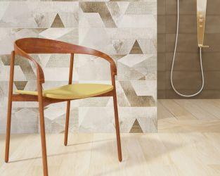 Aranżacja łazienki z geometrycznymi dekoracjami