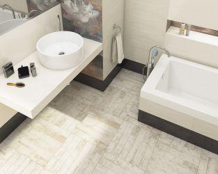 Jasna, przytulna łazienka w prowansalskim stylu