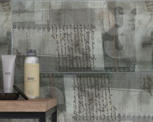 Nowoczesna, szara łazienka w wielkomiejskim stylu