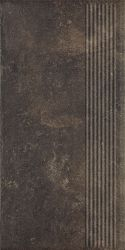 Scandiano Brown Stopnica Prosta - Brązowy - 300x600 - Finishing elements - Scandiano