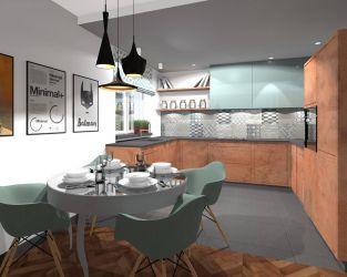 Modna kuchnia z geometrycznym akcentem