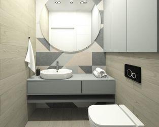 Mała przestrzeń łazienki w funkcjonalnym wydaniu