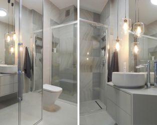 Naturalne piękno agatu w niedużej łazience