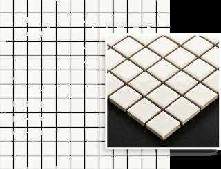 Altea Bianco Mozaika Prasowana K.2,3X2,3  - Biały - 298x298 - настенные плитки - Altea / Albir