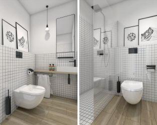 Aranżacja małej łazienki dla gości w domu jednorodzinnym