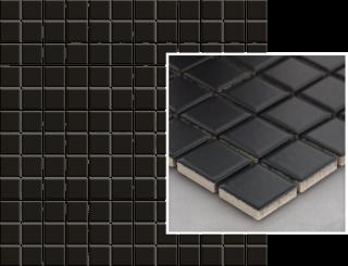 Albir Nero Mozaika Prasowana K.2,3X2,3  - Czarny - 298x298 - Płytki elewacyjne - Altea / Albir