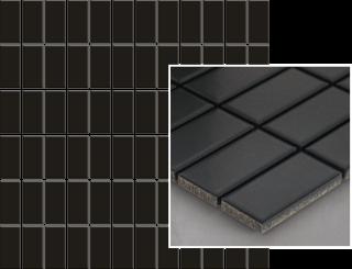 Albir Nero Mozaika Prasowana K.2,3X4,8  - Czarny - 298x298 - Płytki elewacyjne - Altea / Albir