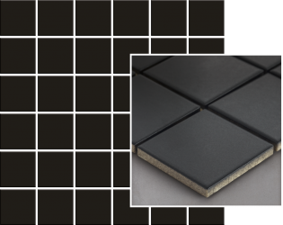 Albir Nero Mozaika Prasowana K.4,8X4,8  - Czarny - 298x298 - Płytki elewacyjne - Altea / Albir
