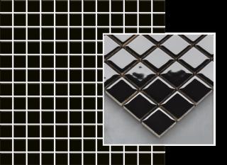 Altea Nero Mozaika Prasowana K.2,3X2,3  - Czarny - 298x298 - Płytki elewacyjne - Altea / Albir