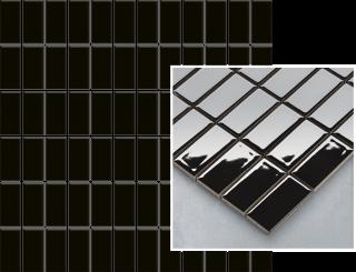 Altea Nero Mozaika Prasowana K.2,3X4,8  - Czarny - 298x298 - Płytki elewacyjne - Altea / Albir