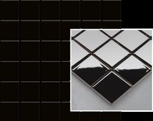 Altea Nero Mozaika Prasowana K.4,8X4,8  - Czarny - 298x298 - Płytki elewacyjne - Altea / Albir