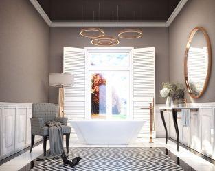 Klasyczny i pełen elegancji pokój kąpielowy