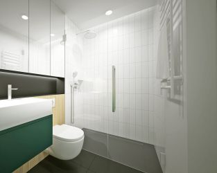 Aranżacja łazienki z motywem roślinnym